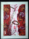 michael hall original all that jazz painting