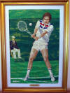 rick rush original painting on canvas jimmy connors